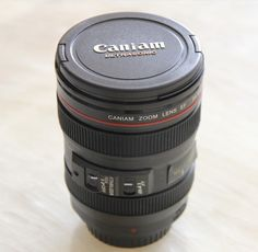 Free shipping coffee mug 24-105mm 1:1 camera lens second generation of creative emulation cup (with lid)