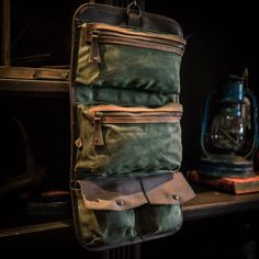 Men s Toiletry Bag - Denver Canvas Travel Kit - Green 81deacab58f20