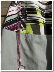 pantalon sarouel femme sur-mesure. Ceinture corsetée.