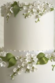 Peggy Porschen. White + green. Simple and pretty.