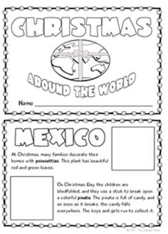 Do you want to teach your students about Christmas Around the World, but don't have tons of time to do it? This mini book project is perfect for you! ~$2.00