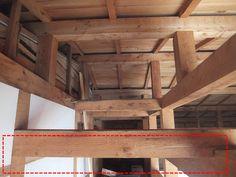 木陰手探りdiy ロフトの壁側から天井に繋ぐ為の板材を羽目てみたが