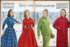 Burda Moden 9 / 1957 mit 2 Schnittbogen Modezeitschrift 50er Jahre