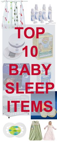 Give the gift of sleep to someone: top 10 items to help a baby sleep through the night