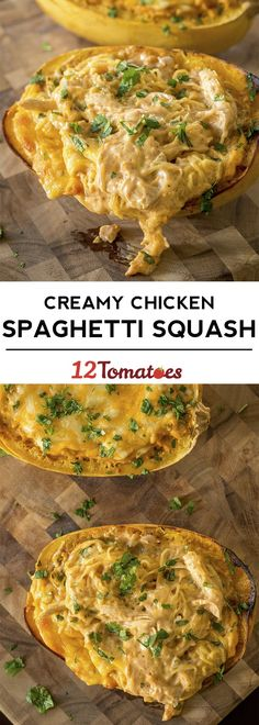 Cheesy Chicken Spaghetti Squash