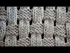 *** Cervinia stitch video (d) Baby Knitting Patterns, Lace Knitting, Knitting Stitches, Crochet Patterns, Crochet Motif, Crochet Yarn, Knit Basket, Damier, Knitting Videos