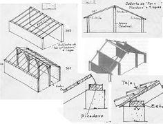 ARQUITECTURA ::: CONSTRUCCION EN MADERA - Cubierta de par y picadero.