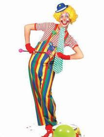 OFF or FREE SHIP -Striped Clown Overalls Adult : Multi colored overalls with large button design and suspenders attached. Day Of Dead, Dress Up Costumes, Adult Costumes, Costumes For Women, Animal Costumes, Costume Ideas, Clown Halloween Costumes, Adult Halloween, Cheap Clown Costumes