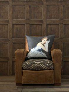 Regent Oak Wallpaper -- a trompe l'oeil wood panel wallpaper design by Andrew Martin
