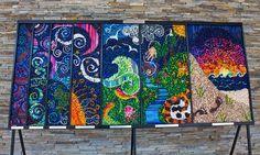 The Seven Days of Creation by Suzi Furtwangler Crayon Mosaic