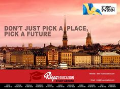 RIYA EDUCATION is now a forerunner among Indian overseas education consultants. Our team truly embraces vigor of this explosive pedagogy, dreaming to bring each Indian towards enriching study programs offered in pioneering colleges/universities across globe, to equip aspirants effectively for global challenges, success and skill development. To know more about abroad education feel free to get in touch with Riya Education. #Sweden #Abroad Education #study abroad Consultants