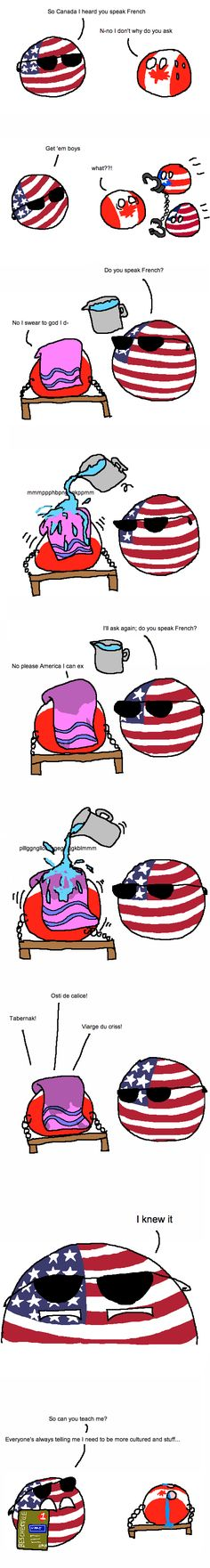 French #countryballs #canadaball #muricaball