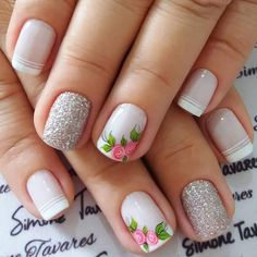50 Trendy Fall Nail Art Design For 2019 These trendy Nail Designs ideas would gain you amazing compliments. Check out our gallery for more ideas these are trendy this year. Cute Nail Art, Cute Acrylic Nails, Beautiful Nail Art, Cute Nails, Spring Nail Art, Spring Nails, Fall Nail Art Designs, Autumn Nails, Flower Nails
