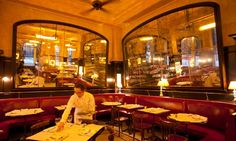 Pale reflections: other brasseries pip Balthazar for classics such as baked snails and crème brûlée. Photograph: Sophia Evans for the Observer