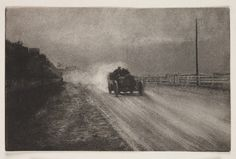 A gum bichromate print photograph entitled 'Vitesse', taken by Robert Demachy in 1904.    Vitesse (Speed) is a romanticised image of modern transport. Demachy's elegant gum pictures were often heavily retouched, using pastels to create highlights.