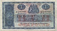 1 POUND 1955 (WAPPEN) Schottland Pound Sterling, One Pound, British, England, Report Cards, Crests, Scotland, English, United Kingdom