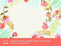 Free floral desktop computer background wallpaper from Design Lovefest.