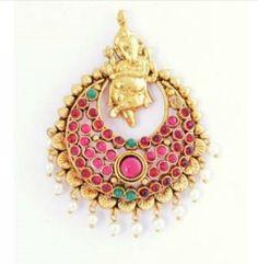 Traditional Ram Leela Earrings with Ganesha