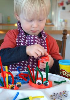 Make Play Dough Monsters - a quick and easy activity