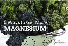 get more magnesium...for the future when I'm looking to prevent morning sickness.