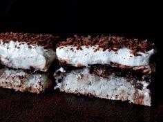 Prajitura cu cocos, crema de vanilie si ness