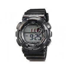 Montre Sport Multifonction Quartz K-SPORT.  Caractéristiques techniques : Chronographe,LED,calendrier,Alarme,Rétro Éclairage...