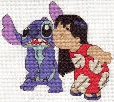 I made the cross stitch pattern out of an icon that I just adore. I didn't create the actual icon just the pattern. L O V E cross stitch Lilo Og Stitch, Lilo And Stitch 2002, Beaded Animals, Rug Hooking, Crossstitch, Perler Beads, Cross Stitching, Pixel Art, Needlepoint