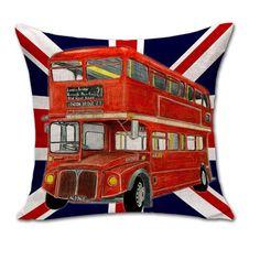 NEW Print union jack Cotton Linen Cushion Covers British Flag Bulldog sofa throw pillow case Home decoration for retail