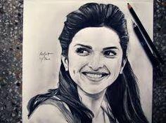 Image result for deepika padukone pencil sketches