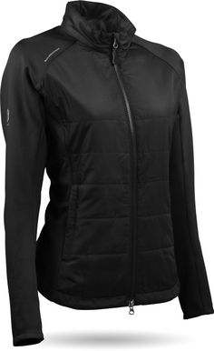 Black Sun Mountain Ladies Windwear HYBRID Golf Jacket now at one of the top shops for ladies golf outerwears!