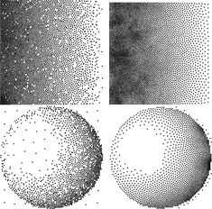 stippling | Figure 12: A black-to-white ramp and a lit sphere stippled with the ...