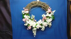 Hey, I found this really awesome Etsy listing at https://www.etsy.com/listing/237882393/delightful-18-grapevine-wreath-pink-and