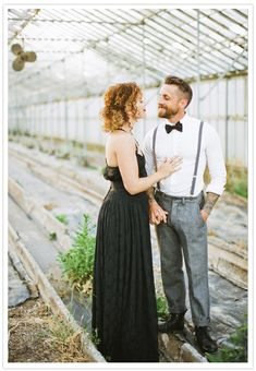 1920's greenhouse engagement shoot