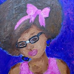 """Absolutely loving @daanime_freakzoid's self-portrait! It screams, """"SELF LOVE""""! What would YOUR self portrait say? #SoundOff #WeighIn #NaturalHair"""