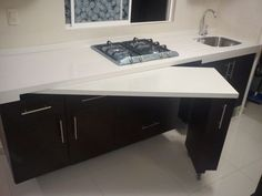 Sliding table kitchen
