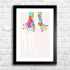 Poster Girafa - Encadreé Posters