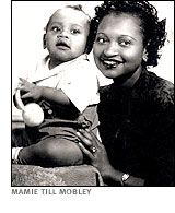 Mamie Till with her son Emmett. When Emmett was lynched at 14, it was Mamie who made sure all of Chicago saw what they'd done to him at his open-casket funeral. By sharing her private horror with the whole world, she lit a fire under the Civil Rights movement and helped bring justice for many others.