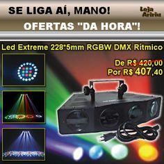 OFERTA! LED Extreme 228 LEDs 5mm RGBW DMX Áudio-Rítmico: De R$ 420 Por apenas R$ 407,40 em http://www.aririu.com.br/mala-satelite-raio-de-sol-led-extreme-aura-rgbw-dmx-ritmico-171xJM