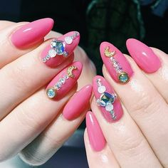Sailor Moon nail art to show your nerd pride.