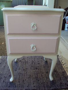 Shabby Chic Vintage Bedside Table
