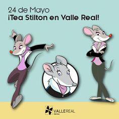 ¡El próximo 24 de Mayo tenéis una cita en Valle Real con Tea Stilton!  Estará firmando ejemplares a las 18h en Librería Estvdio Santander Cantabria ¡Apuntároslo en la agenda!