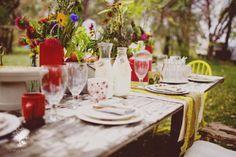 Rustic table setting... so pretty