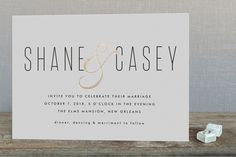 Connected Foil-Pressed Wedding Invitations by Tim St. Clair at minted.com