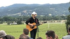 Boots on the ground in Napa Valley for night No. 1 of the Live in the Vineyard Goes Country event. Live Country Music, Country Music News, Great Love Stories, Love Story, Stadium Seats, Hay Bales, Stemless Wine Glasses, Napa Valley, Debut Album