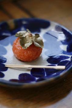 Japanese persimmon look-alike sweets