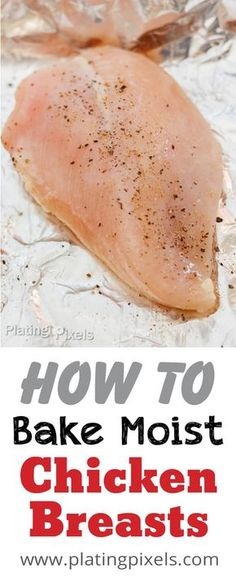Baked Chicken Breast Learn how to Bake Chicken Breast that are moist and tender, everytime. Just a few simply steps for moist chicken with time-saving and easy cleanup tips. Plus some top trending chicken recipes. You can even bake them frozen. Perfect Baked Chicken Breast, Roasted Chicken Breast, Oven Roasted Chicken Brest, Baked Chicken From Frozen, Chicken Breast Pizza, Baked Chicken Marinade, Oven Baked Chicken, Keto Chicken, Oven Chicken Recipes