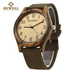 Cheap watch men, Buy Quality watch men women directly from China watch girl Suppliers: BEWELL 2017 New arrival Zebra Casual Natural Unisex Bamboo Wood Watch Men Women Canvas Band Super Simple Girl Watch 124B