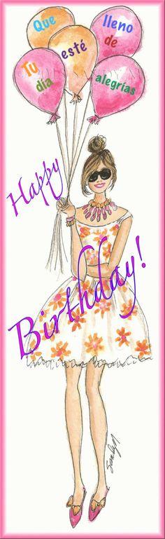 Happy Birhday Hermanita, dios te bendiga siempre y te llene de alegrias, salud y amor! te queremos mucho y te enviamos un fuerte abrazo e inmenso besooo!