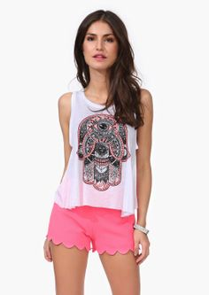 I don't do shirts with skulls on them but I absolutely adore those pink shorts!