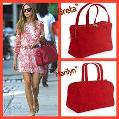 El bolso de piel rojo es una buena opcion tanto para verano como para invierno! Diseña el tuyo en www.collectionbyyou.com